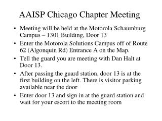 AAISP Chicago Chapter Meeting