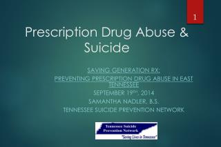 Prescription Drug Abuse & Suicide