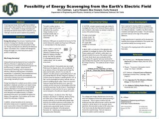 Possibility of Energy Scavenging from the Earth's Electric Field