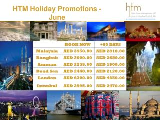 HTM  Holiday Promotions - June