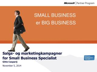 Salgs- og marketingkampagner for Small Business Specialist Gitte Casparij