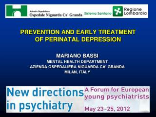 PREVENTION AND EARLY TREATMENT  OF PERINATAL DEPRESSION