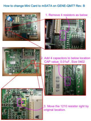 1. Remove 4 resistors as below