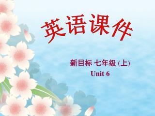 新目标 七年级  ( 上 ) Unit 6
