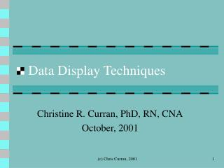 Data Display Techniques
