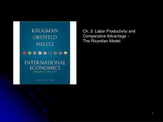 Ch. 3: Labor Productivity and Comparative Advantage –  The Ricardian Model
