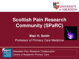 Scottish Pain Research Community SPaRC