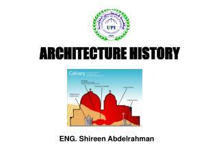 ARCHITECTURE HISTORY