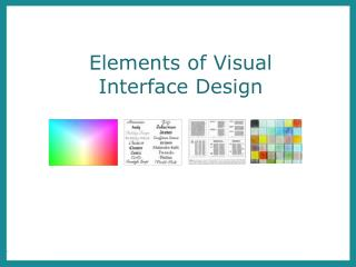 Elements of Visual Interface Design