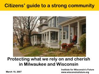 Citizens� guide to a strong community