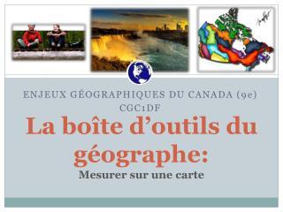 La boîte d'outils du géographe: Mesurer sur une carte