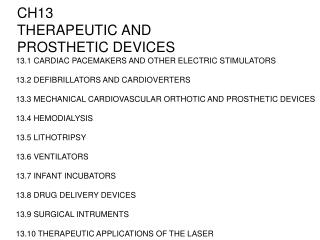 CH13 THERAPEUTIC AND PROSTHETIC DEVICES