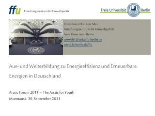 Aus- und Weiterbildung zu Energieeffizienz und Erneuerbare Energien in Deutschland