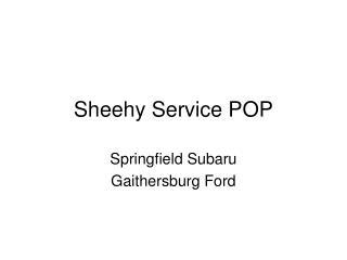 Sheehy Service POP