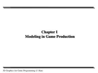 Chapter I  Modeling in Game Production