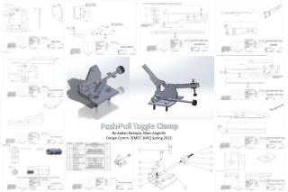 Push-Pull Toggle Clamp By:Aedan Koziupa ,  Marc  Angiollo Design Comm. 2[MEC 1041 ] Spring 2013