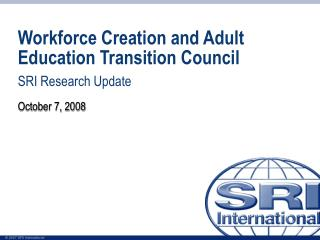 Workforce Creation and Adult Education Transition Council
