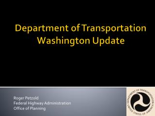 Department of Transportation  Washington Update