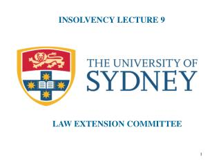 INSOLVENCY LECTURE 9