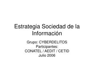 Estrategia Sociedad de la Información