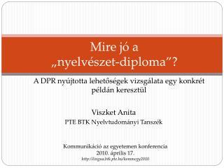"""Mire jó a  """"nyelvészet-diploma""""?"""