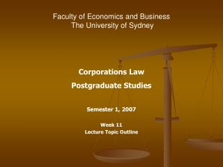 Faculty of Economics and Business The University of Sydney