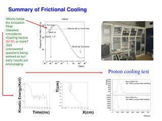 Summary of Frictional Cooling