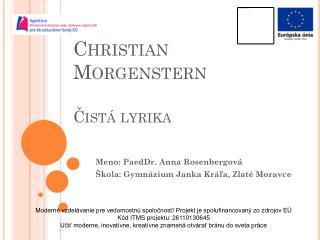 Christian Morgenstern Čistá lyrika
