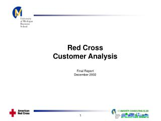 Red Cross Customer Analysis Final Report December 2002