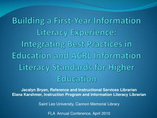 Jacalyn Bryan, Reference and Instructional Services Librarian