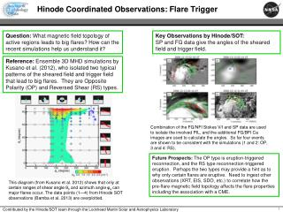 Hinode Coordinated Observations: Flare Trigger
