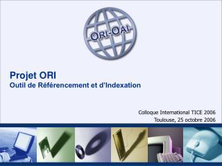 Projet ORI Outil de Référencement et d'Indexation