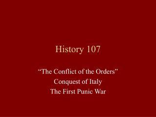History 107