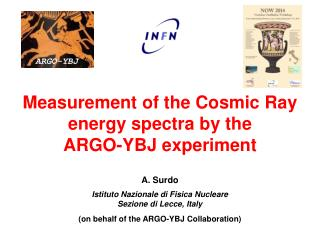 Measurement of the Cosmic Ray energy  spectra  by the ARGO-YBJ experiment A.  Surdo