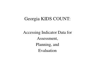 Georgia KIDS COUNT:
