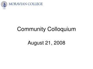 Community Colloquium