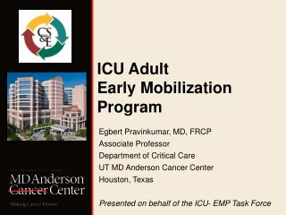 ICU Adult  Early Mobilization Program