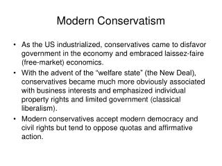 Modern Conservatism