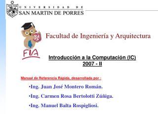 Introducción a la Computación (IC) 2007 - II
