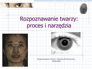 Rozpoznawanie twarzy: proces i narzędzia
