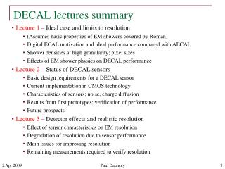 DECAL lectures summary