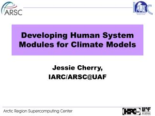 Developing Human System Modules for Climate Models
