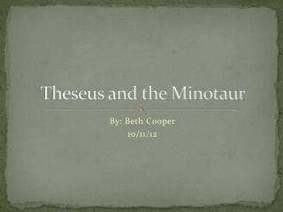 Theseus and the Minotaur