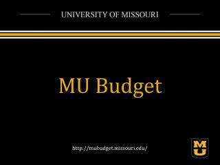 MU Budget
