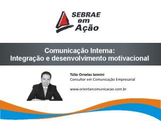 Túlio Ornelas Iannini Consultor em Comunicação Empresarial orientarcomunicacao.br