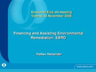 Environet Kick-off meeting  Vienna, 23 November 2009