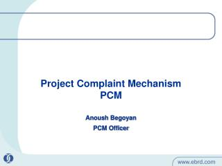 Anoush Begoyan PCM Officer