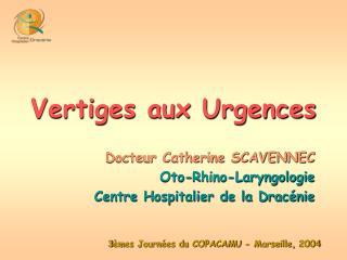 Vertiges aux Urgences