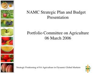 NAMC Strategic Plan and Budget Presentation Portfolio Committee on Agriculture 06 March 2006