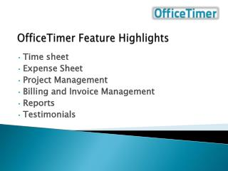 OfficeTimer Feature  Highlights